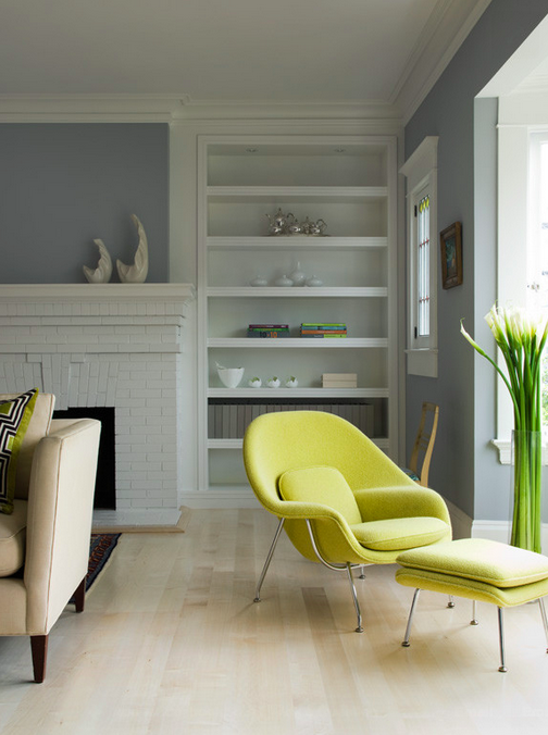 2. Chartreuse Chair and Ottoman
