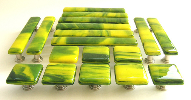 4. Chartreuse Drawer Pulls