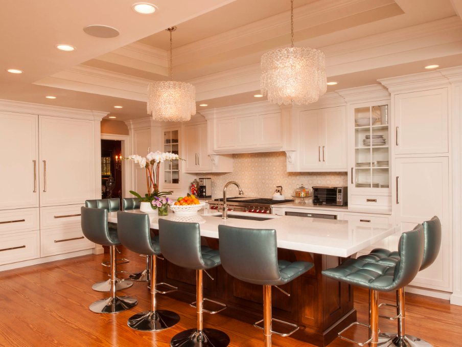 Clashing style counter stools - How to choose the best counter stools by Michelle Reid at Designer Girl Interiors.com