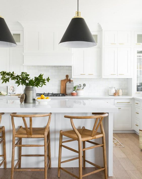 Low back wood counter stools - How to choose the best counter stools by Michelle Reid at Designer Girl Interiors.com